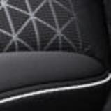 Tekstiilist istmekatted, must